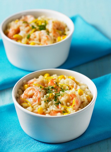 Lemon risotto with prawns