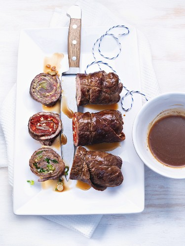 Beef roulades with gravy