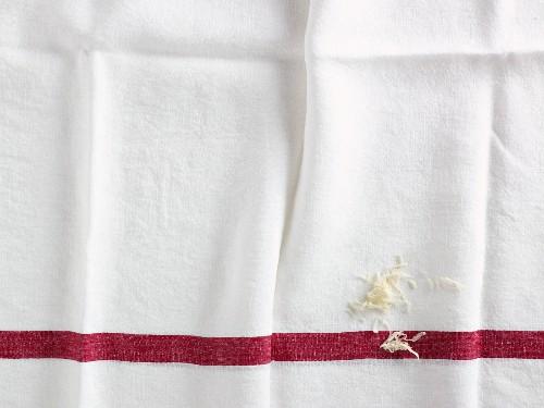 Grated horseradish on a linen cloth