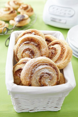 Puff pastry nut whirls
