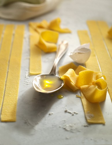 Home-made tagliatelle