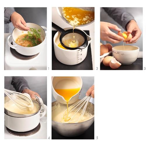 Sauce bearnaise being made