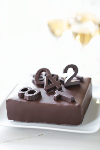 Chocolate cake with numbers