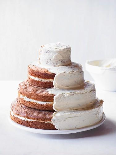 Wedding cake with vanilla buttercream