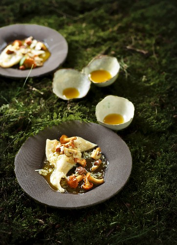 Pansotti (filled pasta) with chanterelles