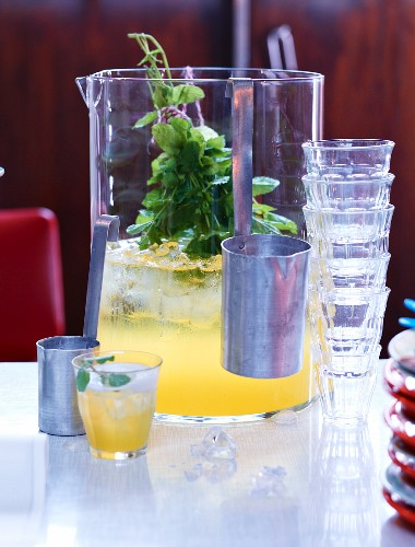 Orange punch with mint
