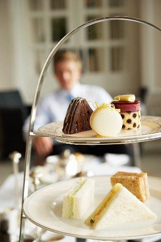 Small cakes and nibbles for afternoon tea