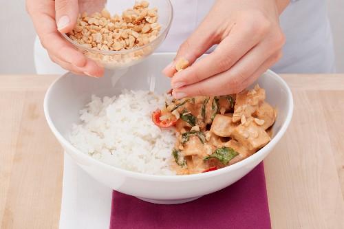 Pork Panaeng with rice (Thailand)