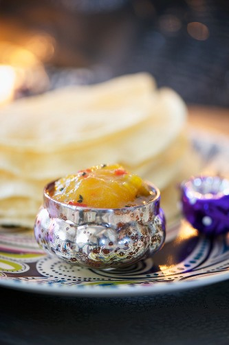 Mango and lemon chutney with chilli