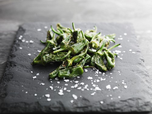 Padron Peppers and rock salt