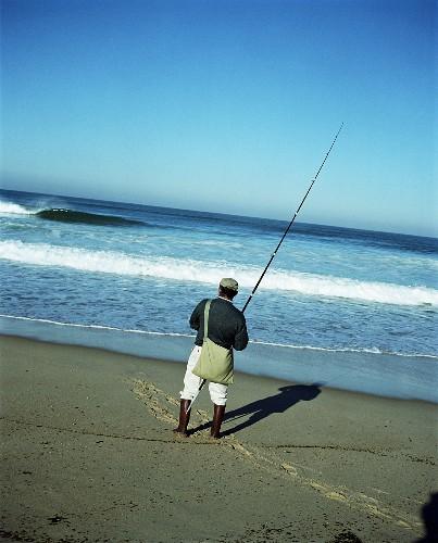 Surf Fisherman at Beach