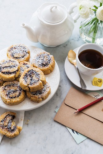 Gluten free whirls for tea