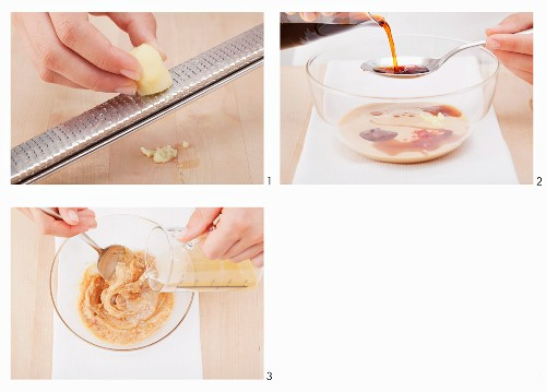 Peanut sauce being made (Vietnam)
