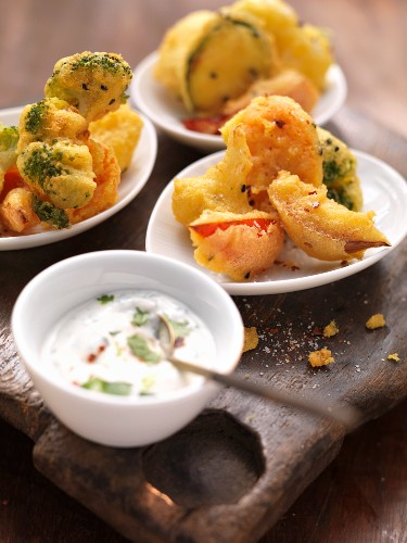 Pakoras - vegetables baked in a chickpea and black caraway batter (India)