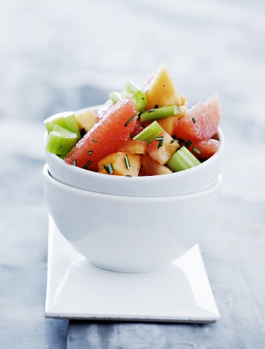 Celery salad with fruit