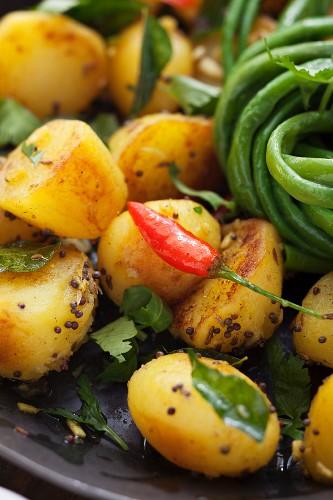 Fried Bombay potatoes