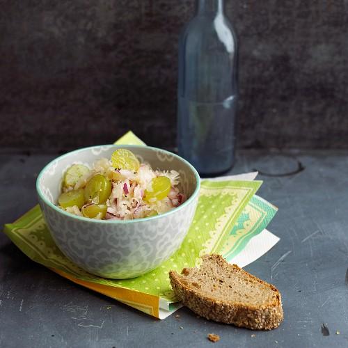 Sauerkraut and grape salad