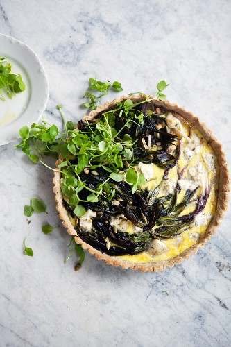 Ramps tart (wild leek, North America)