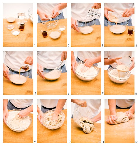 A basic step-by-step for making rye bread