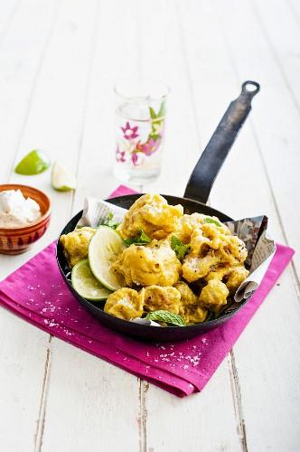 Cauliflower pakoras, India