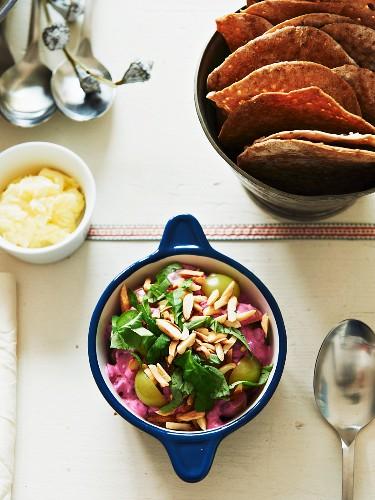 Beetroot and grape salad
