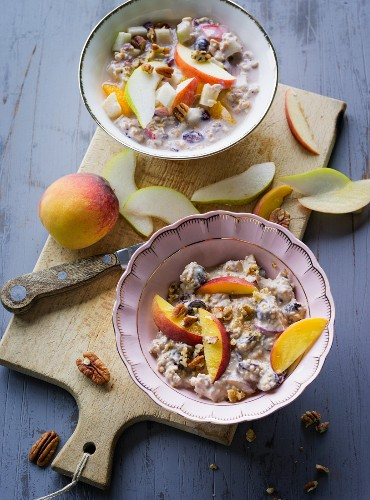 ADHD food: fresh grain muesli and millet porridge