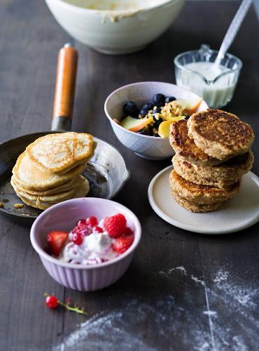 ADHD food: amaranth pancakes and fruit blinis