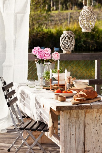 Table set in natural style
