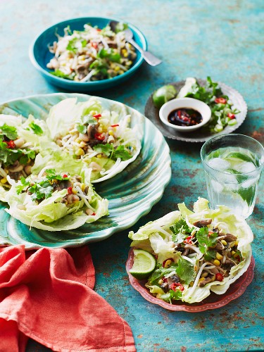 San Choy Bow (lettuce leaves filled with minced meat, China)