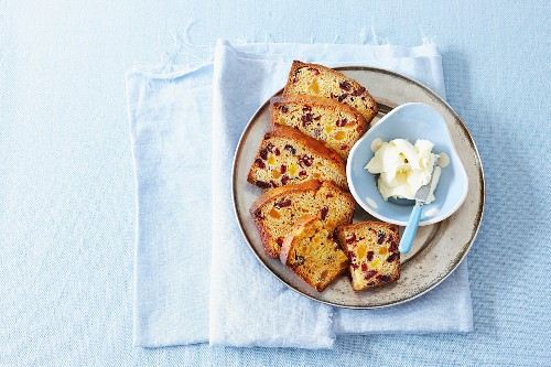 Apricot and cranberry loaf