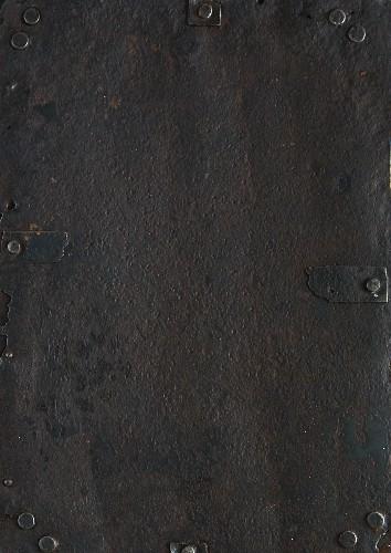 Hintergrund aus Eisen mit Beschlägen