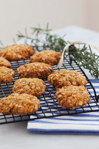 Oat and coconut biscuits