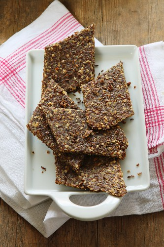 Gluten-free bread with flax seeds and Parmesan cheese