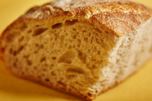 A round loaf of sourdough bread from Vermont, USA