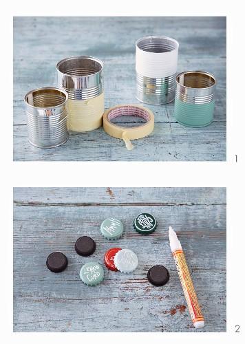 Geschenkverpackungen aus Konservendosen & Kronenkorken selbermachen