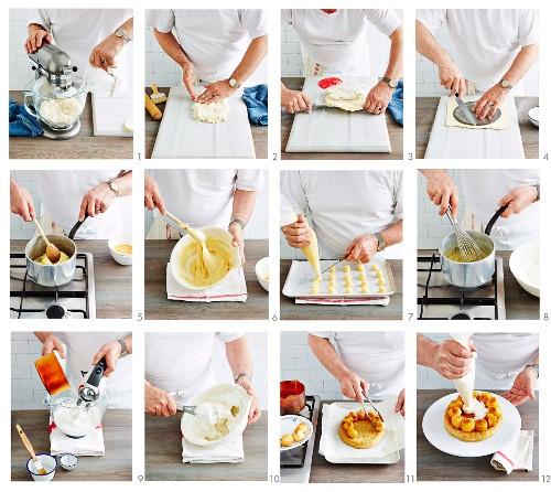 Zubereitung der Saint-Honoré-Torte