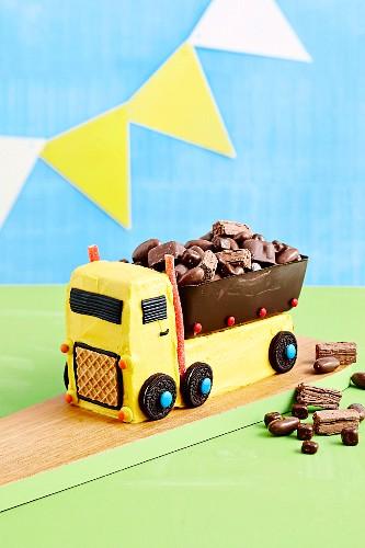 Chocolate tipper truck