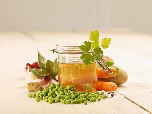 Zutaten für Erbsensuppe