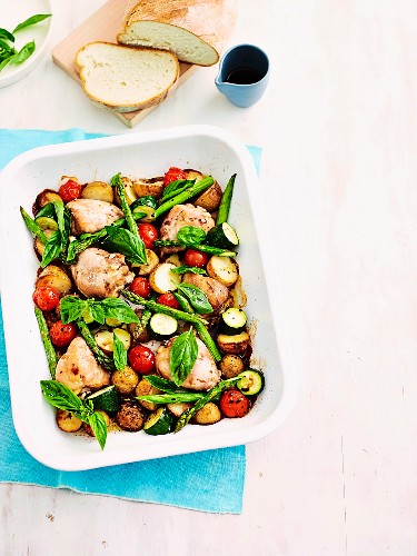 One pan lovely legs & asparagus