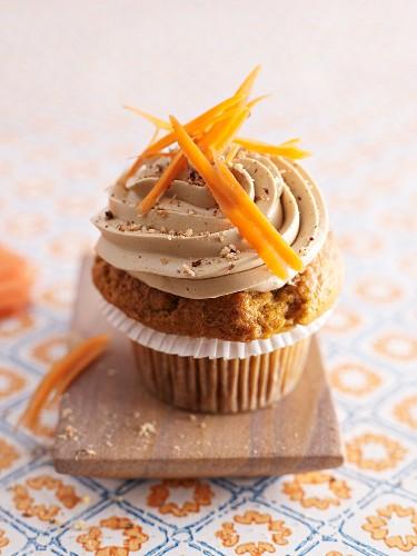 A carrot cupcake
