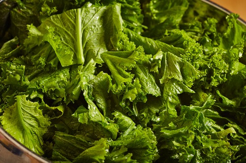 Chopped fresh mustard greens