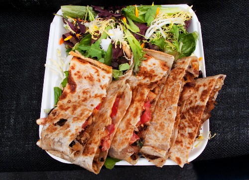 Quesadillas (Mexican street food in Los Angeles, USA)