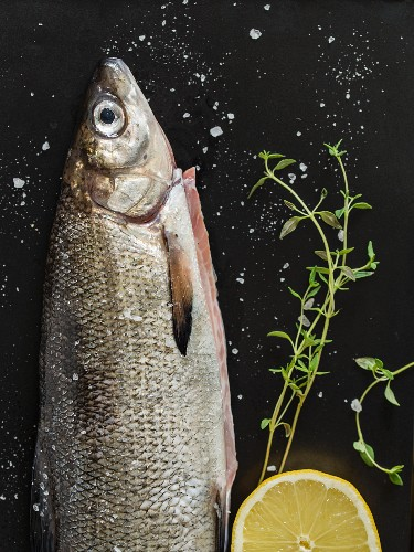 Fresh whiting with lemon and thyme