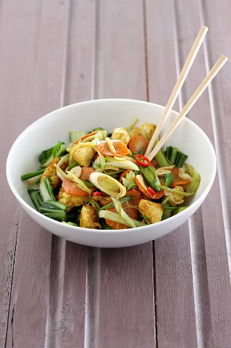 Stir-fried turkey with vegetables