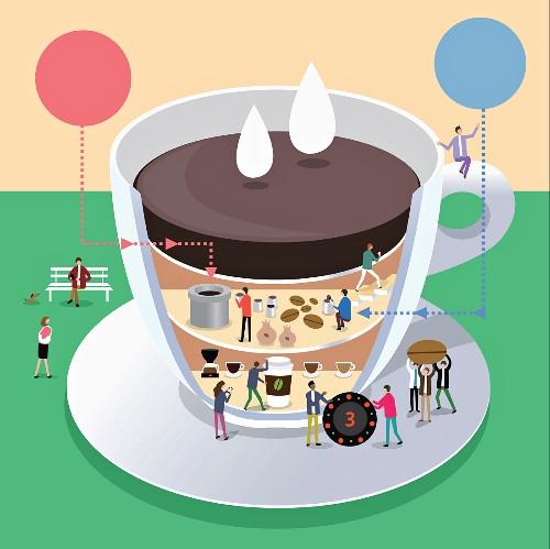 Symbolbild für Produktivität mit einer Tasse Kaffee (Illustration)