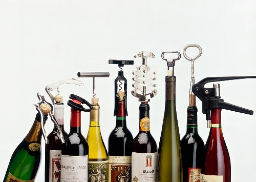 Nine corkscrews