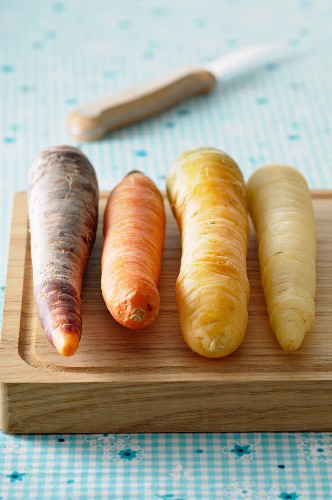 Four different carrots