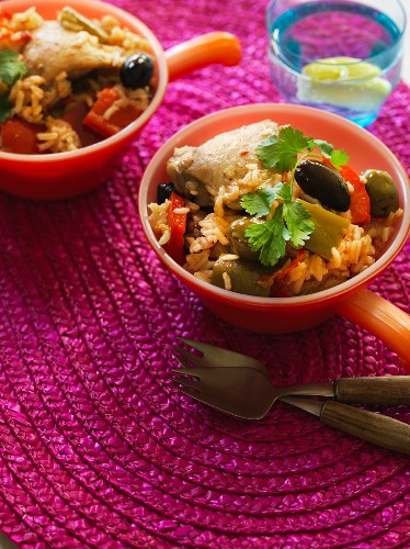 Rice with chicken and olives (Panama)