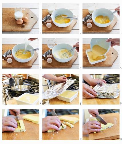 Eierstich als Suppeneinlage zubereiten