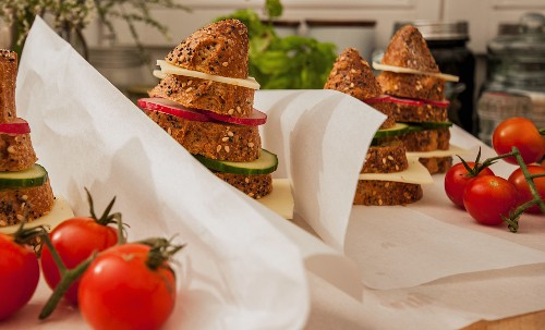 Sandwich stacks for children to take to school